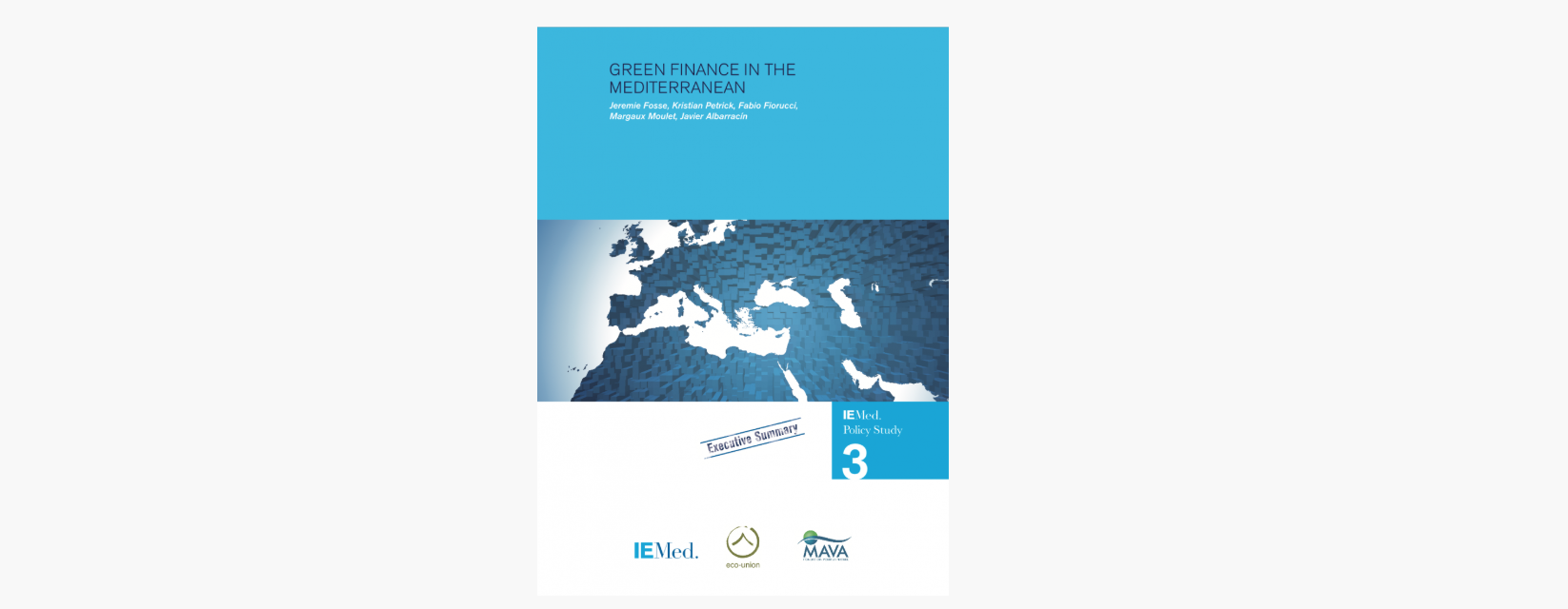 The final version of Green Finance in the Mediterranean Report has been published