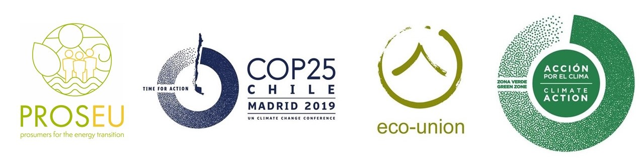 Eco-union organizes a side-event on Prosumers for the energy transition at the COP 25 in Madrid